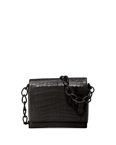 Gio Crocodile Chain Crossbody Bag