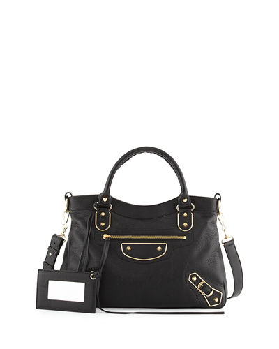 Edge Town AJ Goatskin Satchel Bag
