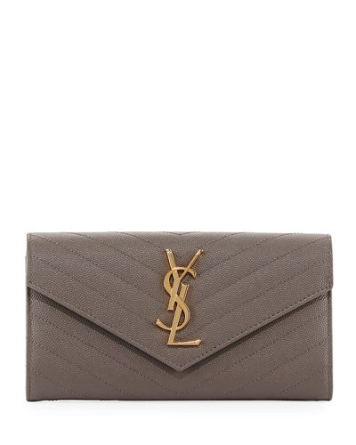 Saint Laurent Monogram Leather Medium Flap Continental Wallet