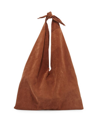 THE ROW Bindle Knot Suede Hobo Bag