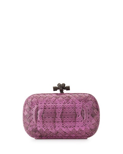 Rectangular Quilted Snake Minaudiere