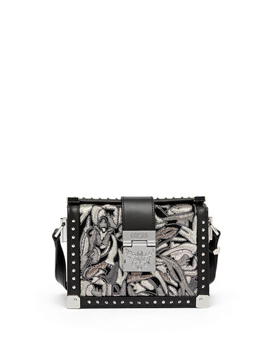 MCM Mitte Mini Brocade Crossbody Clutch Bag