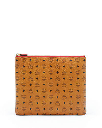 MCM Color Visetos Medium Pouch Bag