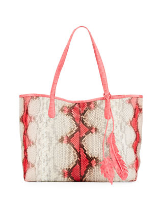 Nancy Gonzalez Erica Python Shopper Tote Bag | Neiman Marcus