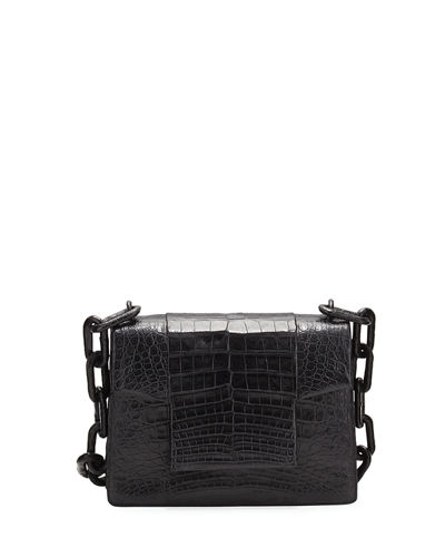 Crocodile Small Chain-Strap Shoulder Bag
