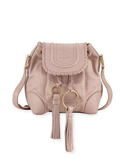 Polly Leather Flap Bucket Bag