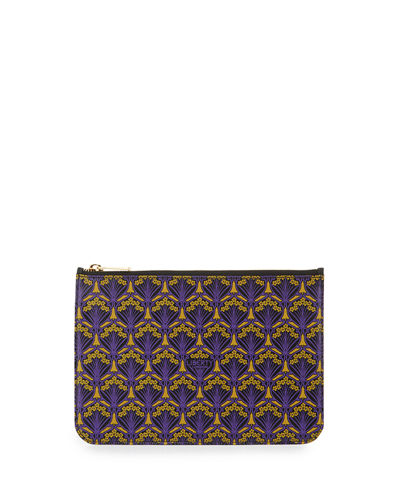 Iphis-Print Zip-Top Pouch Bag