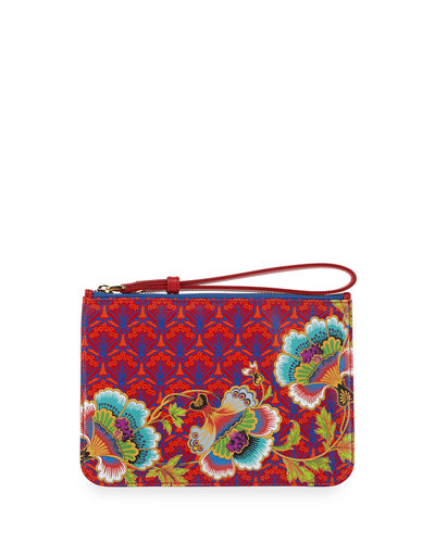 Liberty London Paradise Zip-Top Wristlet