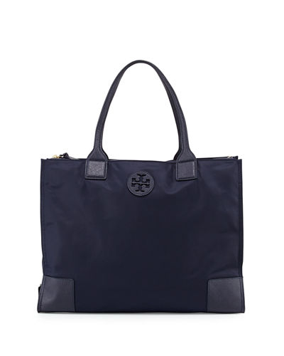 Ella Packable Nylon Tote Bag, Tory Navy