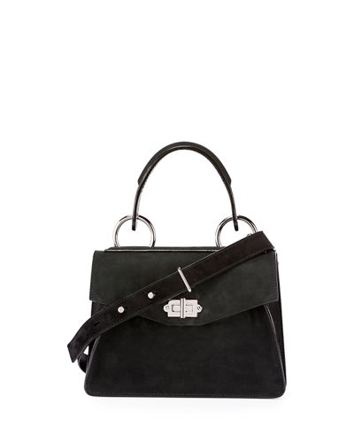 Hava Small Leather Top-Handle Satchel Bag