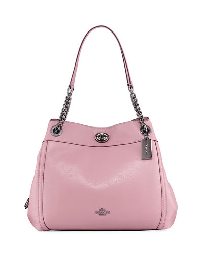 Turnlock Edie Leather Shoulder Bag