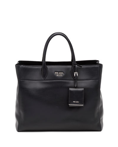 City Calfskin Tote Bag with Studded Strap