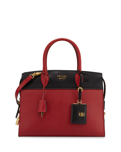 Esplanade Medium Bicolor City Satchel Bag