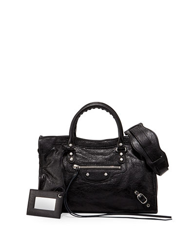 Classic City Nickel Small Tote Bag, Black (Noir)