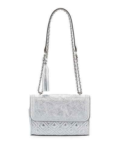 Fleming Metallic Small Convertible Shoulder Bag