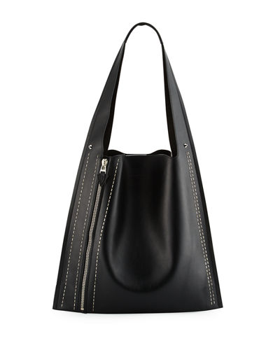 Estia Metal Scars Leather Hobo Bag
