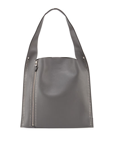 Elena Ghisellini Estia Metal Scars Leather Hobo Bag