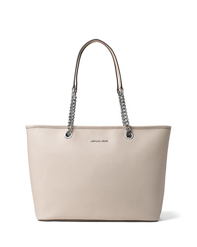 Jet Set Travel Medium Chain Leather Tote Bag