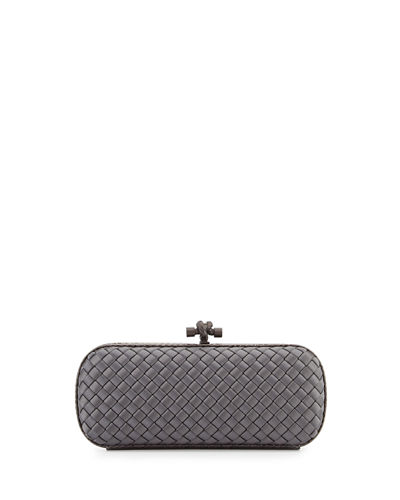 Satin Elongated Knot Clutch Bag
