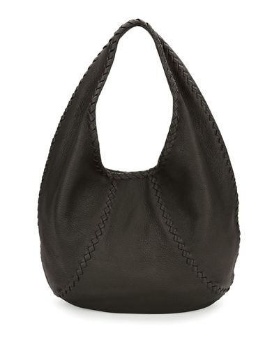 Cervo Large Leather Hobo Bag