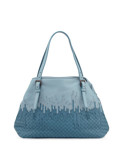 5814f6260f23 Bottega Veneta Medium Flow Wave Intrecciato Tote Bag