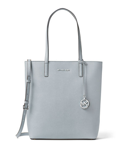 Hayley Large Top-Zip Leather Tote Bag