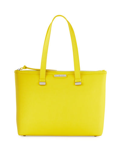 Charles Jourdan Owen Saffiano Leather Tote Bag