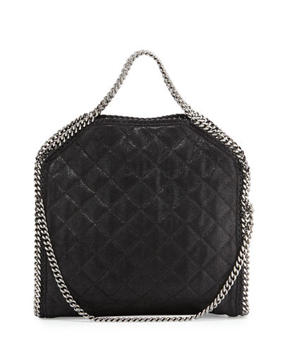 Falabella Three-Chain Fold-Over Tote Bag, Black