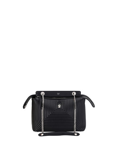 Fendi Dotcom Click Small Quilted Chain Shoulder Bag