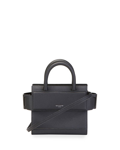 Horizon Nano Grained Leather Satchel Bag