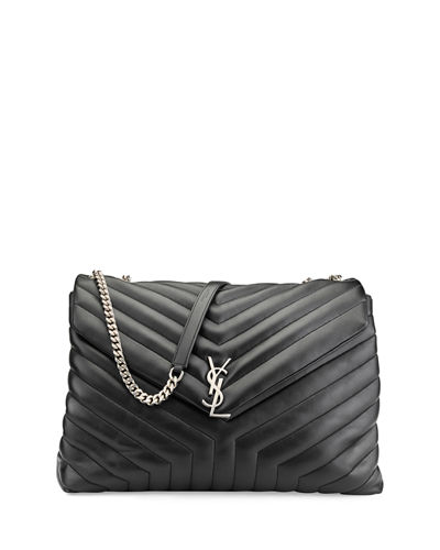 Loulou Monogram Y-Quilted XL Slouchy Chain Shoulder Bag