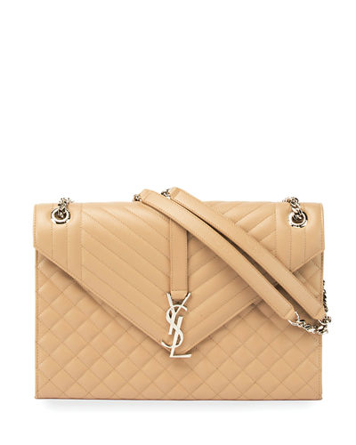 Monogram Large Chain Matelassé Shoulder Bag