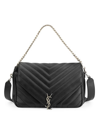 Saint Laurent Monogram Large Slouchy Matelassé Leather Shoulder Bag