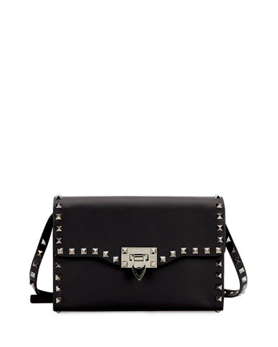Rockstud Small Leather Flap Shoulder Bag