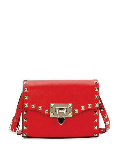 Rockstud Mini Leather Flap Shoulder Bag