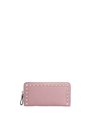 Rockstud Zip-Around Wallet