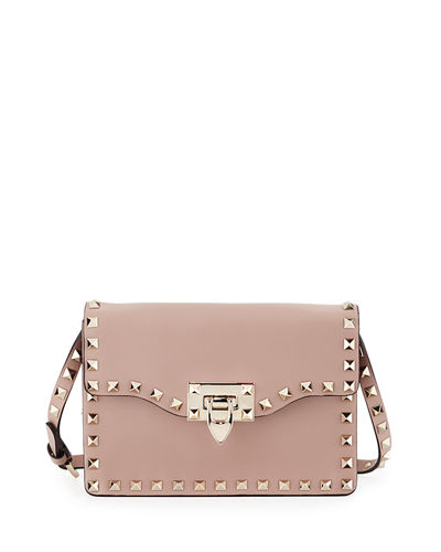 Small Rockstud Flap Crossbody Bag