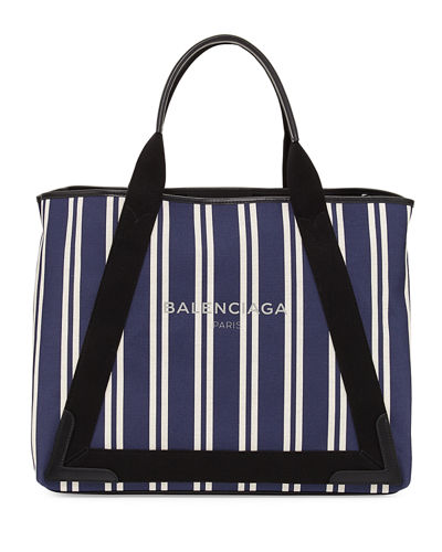 Cabas Medium Striped Tote Bag