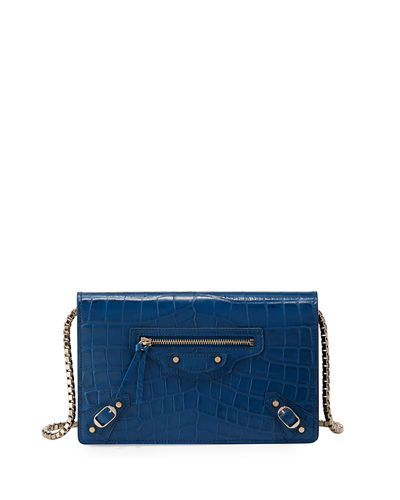 Classic Crocodile-Embossed Wallet-on-Chain