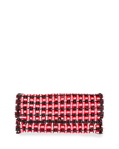 Bistro Cabas Medium Woven Clutch Bag