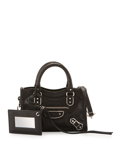Classic Metallic Edge Nano City AJ Crossbody Bag