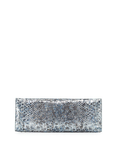 Metallic Python Razor Clutch Bag
