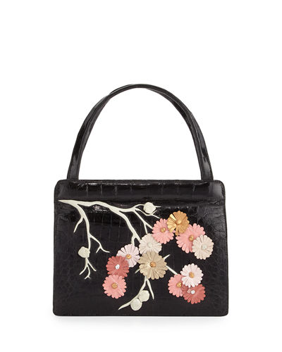 Small Cherry Blossom Top-Handle Bag