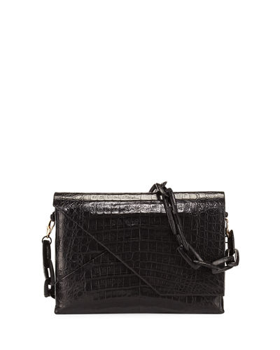 New Origami Crocodile Chain Shoulder Bag