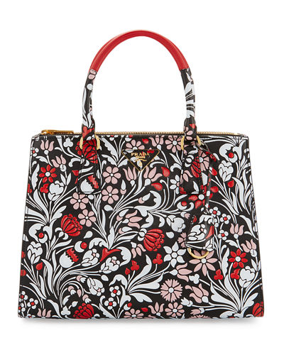 Medium Debossed Floral Paradigm Tote Bag