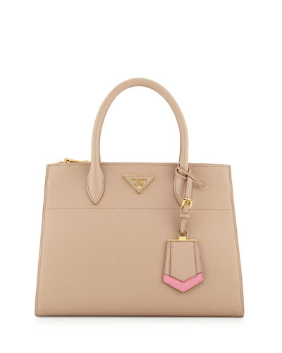 Prada Medium Saffiano Greca Paradigm Tote Bag