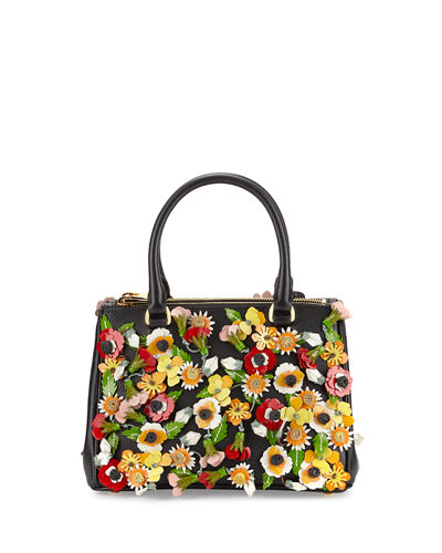 Prada Saffiano Garden Small Double-Zip Galleria Tote Bag