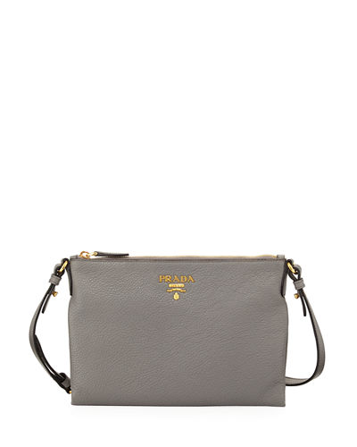 Vitello Daino Medium Pouch Crossbody Bag