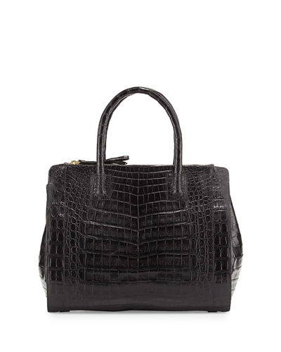 Crocodile Large Double-Zip Tote Bag