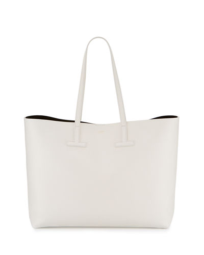 Medium Grained Leather Tote Bag